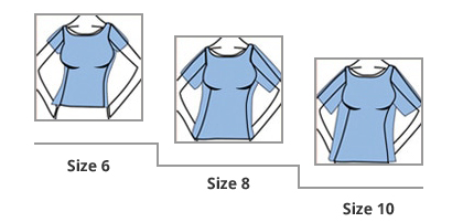 Misses Sizing Chart Example 2- Information regarding lengths.